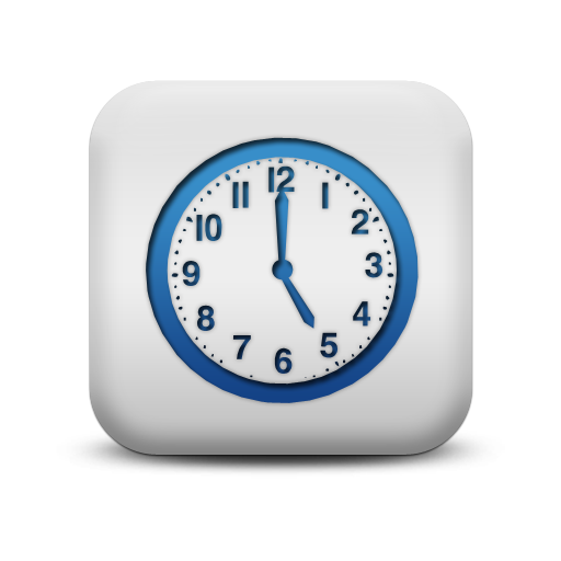 116892 matte blue and white square icon business clock3