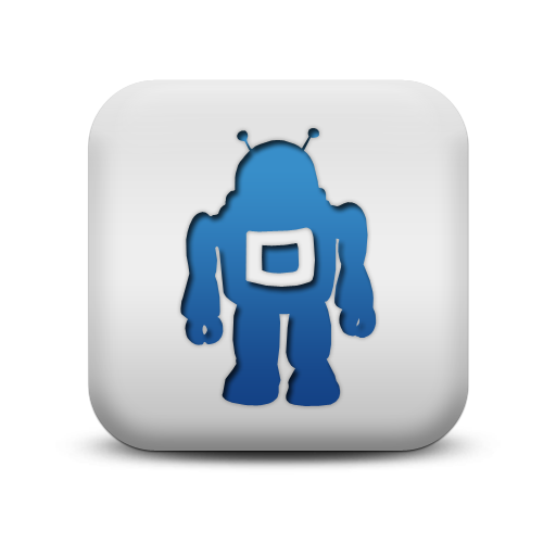 117047 matte blue and white square icon business robot1